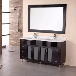 "Design Element Bello 61"" Double Sink Vanity Set"