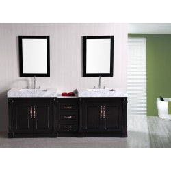 "Design Element Odyssey 90"" Double Sink Vanity Set"