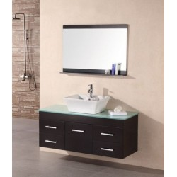 "Design Element Madrid 48"" Single Sink - Wall Mount Vanity Set"