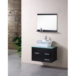 "Design Element Madrid 30"" Single Sink - Wall Mount Vanity Set"