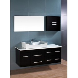 "Design Element Springfield 53"" Single Sink - Wall Mount Vanity Set"