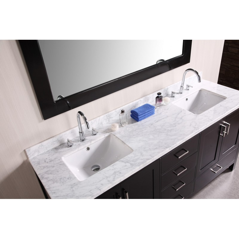Design Elements London 72 Quot Double Sink Vanity Set Dec301b