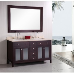"Design Element Venetian 60"" Double Sink Vanity Set"