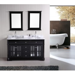 "Design Element Imperial 60"" Double Sink Vanity Set"