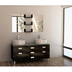 "Design Element Wellington 55"" Double Sink Vanity Set"