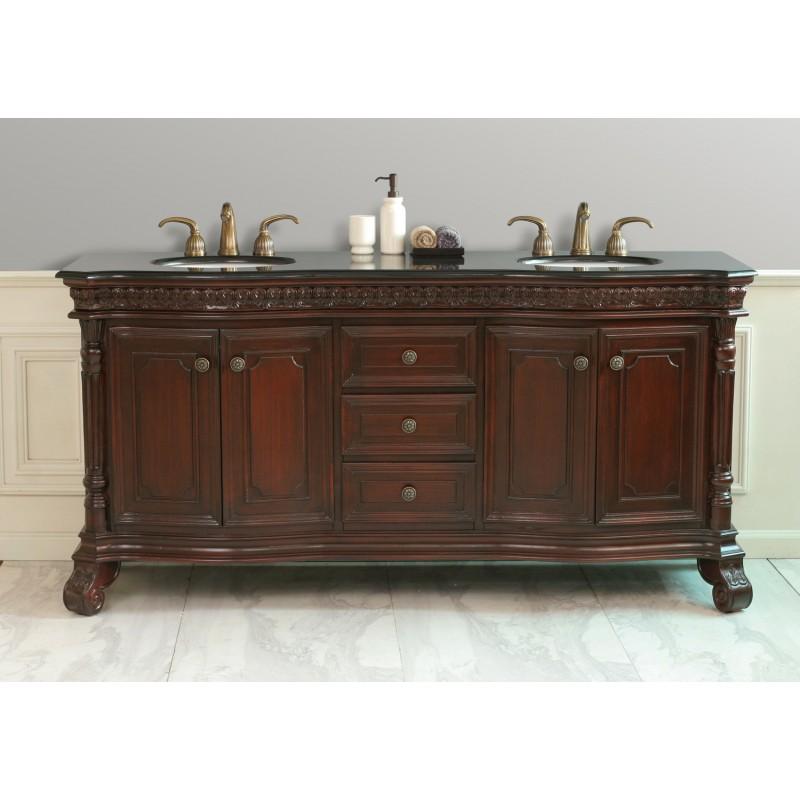 Design Elements Shakespeare 72 Double Sink Vanity Set DEC405C BG