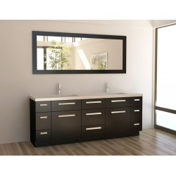 "Design Element Moscony 84"" Double Sink Vanity Set"
