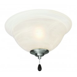 Design House 154211 3-Light Ceiling Fan Light Kit with Alabaster Glass Bowl Shade