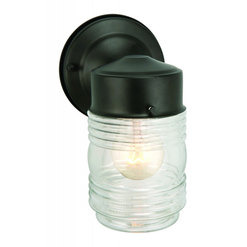 Outdoor Wall Light Replacement Glass: Design House 500181 Jelly Jar Outdoor Wall Down Light