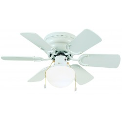 "Design House 152991 Atrium Hungger 30"" White Ceiling Fan"