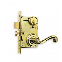 Omnia 1055-00 Classic Scroll Lever Mortise Lockset