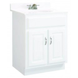 Design House 541029 Concord Two Door White Vanity Cabinets