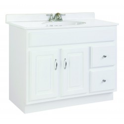 Design House 541052 Concord 2 Door & 2 Drawer White Vanity Cabinets