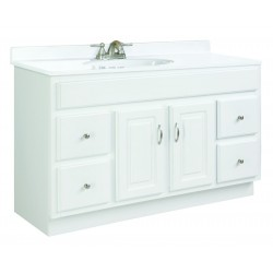 Design House 541078 Concord 2 Door & 4 Drawer White Vanity Cabinets