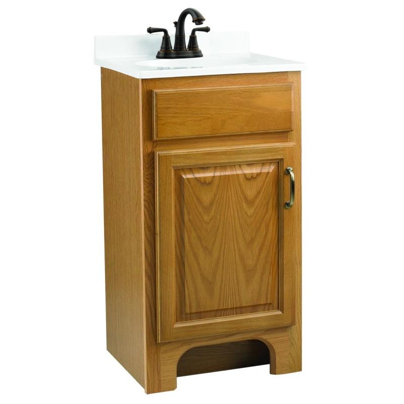 Design house 541102 richland 18x16 one door vanity cabinets - Unassembled bathroom vanity cabinets ...