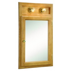 Design House 551036 Richmond 18x30 One Door Corner Mount Lighted Cabinet