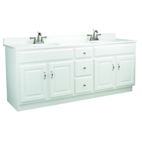 Design House 541086 Concord 72X21 4 Door U0026 3 Drawer White Vanity Cabinets