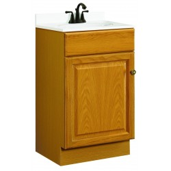 Design House 531970 Claremont 18x16 One Doors Oak Vanity Cabinets