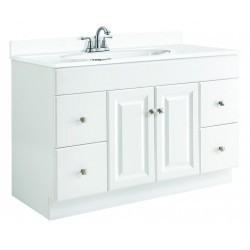 Design House 531145 Wyndham 48x21 White 2 Door & 4 Drawer Vanity Caninet