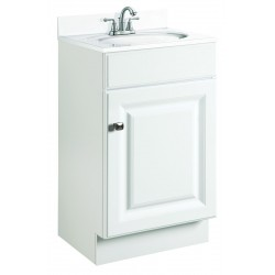 Design House 531723 Wyndham White One Door Vanity Cabinets