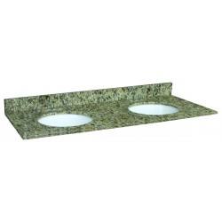 Design House 553073 Venetian Gold Granite 61x22 Double Bowl Vanity Tops