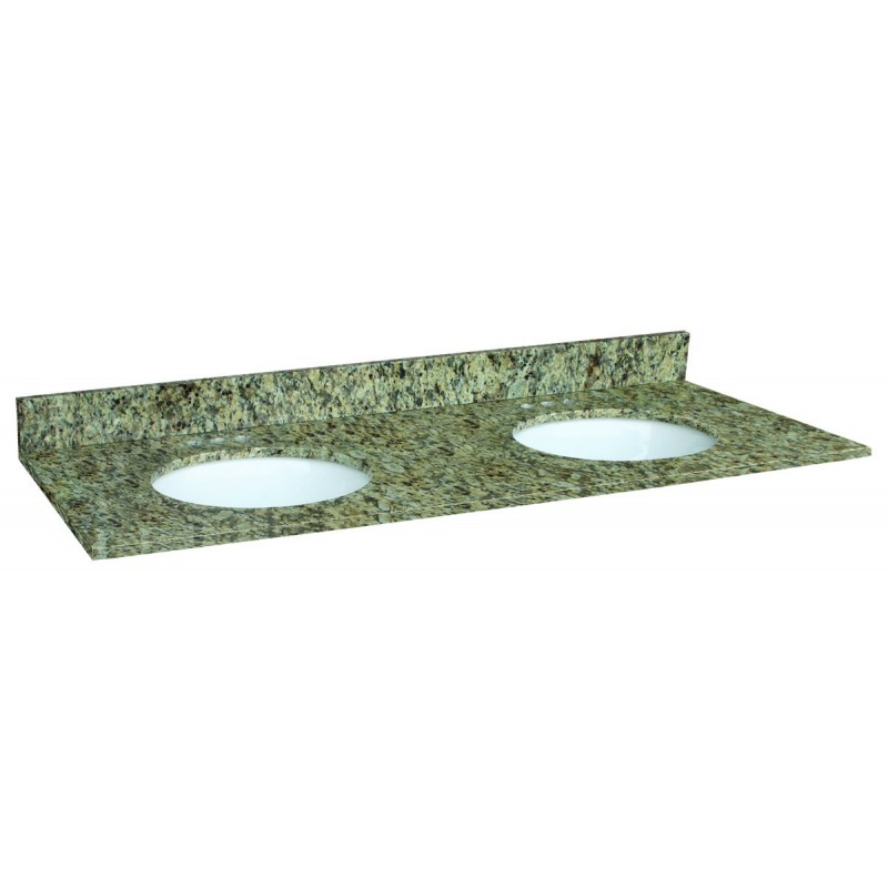 Granite Double Bowl Vanity Top : Design house venetian gold granite double