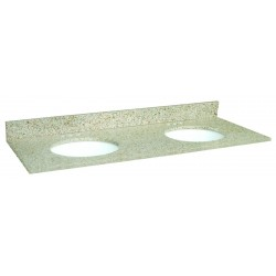 Design House 553081 Golden Sand Granite Double Bowl Tops