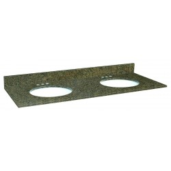 Design House 553065 Tropical Brown Granite Double Bowl Tops