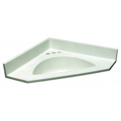 Design House 545525 White on White Cultured Marble Single Bowl Top