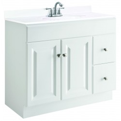 Design House 545087 Wyndham White 2 Door & 2 Drawer Vanity Cabinet