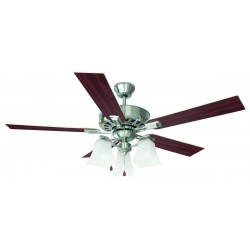 "Design House 154138 Torino 52"" Satin Nickel Ceiling Fan"