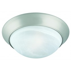 Design House 503201 Satin Nickel Twist-Off Dome Ceiling Mount with Alabaster Glass