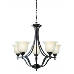 Design House 517748 Ironwood 5 Light Chandelier Light Fixture