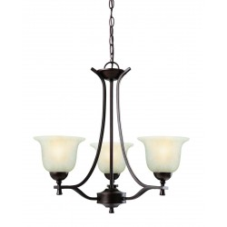 Design House 517557 Ironwood 3 Light Chandelier Light Fixture