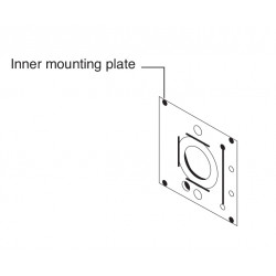 Falcon MA Series Mounting Plate For Use With No Outside Trim