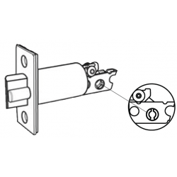 Cal-Royal SINGL Backset Gate Latch for Single Cylinder Deadbolt