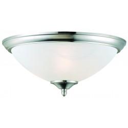 Design House Trevie 2-Light Ceiling Mount, Satin Nickel Finish