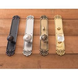 Brass Accents D04-K322 Fleur De Lis Collection Door Set