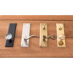 Brass Accents D07-K540 Quaker Collection Door Set
