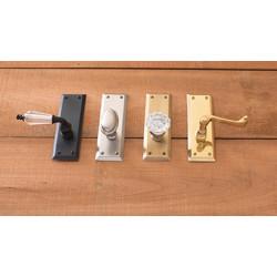 Brass Accents D07-K539 Quaker Collection Door Set, Small