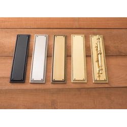 Brass Accents A06-P024 Academy Push and Pull Plate