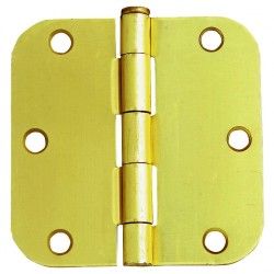 Design House 6-Hole 5/8-Inch Radius Door Hinge 3.5-Inch by 3.5-Inch