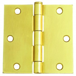 Design House Hinges 3-1/2 in. x 3-1/2 in. Square Corner Door Hinge