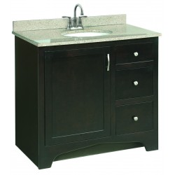 "Design House 539619 Ventura 36"" Wood Vanity Cabinet Only Espresso"