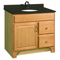 "Design House Nutmeg Oak Richland 36"" Wood Vanity Cabinet Only"