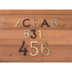 "Brass Accents I07-L91 Traditional 4"" Letters"