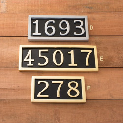 Brass Accents I08-P75 Address Marker Plaque