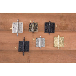Brass Accents H Series Filigree, Victorian, Eastlake Hinges