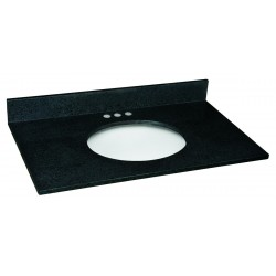 Design House Vanity Top with Single Bowl from the Granite Collection