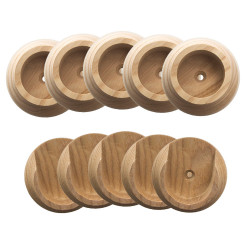 "Design House Closet Pole Socket 1-3/8"", 5-Pack, Natural Wood"